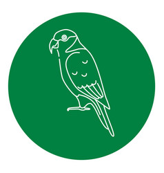 Lory parrot icon in thin line style vector
