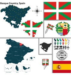 Map of Basque Country vector image vector image
