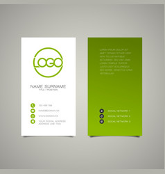 modern simple vertical business card template vector image vector image