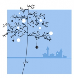 ornament tree vector image