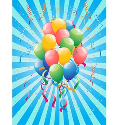 Party Balloons vector image vector image