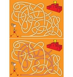 Runner maze vector