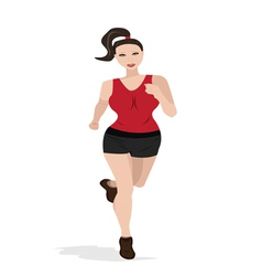 running woman vector image vector image