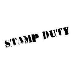 Stamp duty rubber stamp vector