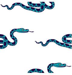 tropical snake vector image