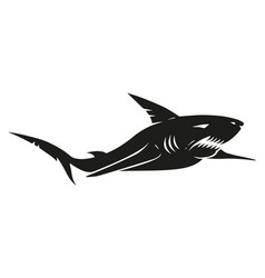 Vintage black shark vector