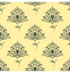 Vintage seamless Persian paisley floral element vector image