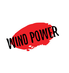 Wind power rubber stamp vector