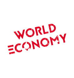 World economy rubber stamp vector