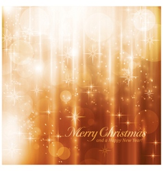 Sparkling lights and stars Christmas card vector image