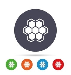 Honeycomb sign icon honey cells symbol vector