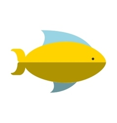 Fish sea isolated icon vector