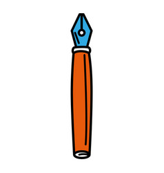 Feather pen isolated icon vector