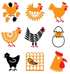 Logo icons chicken vector
