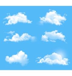 big set of transperent clouds vector image