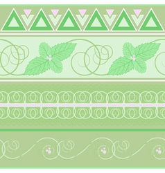 Seamless pattern with mint vector