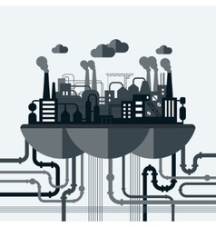 Concept of nature pollution vector