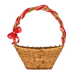 Wicker basket2 vector
