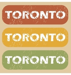 Vintage toronto stamp set vector