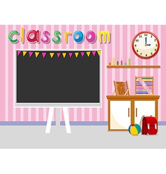 Empty classroom with blackboard vector