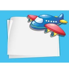 Plane paper copyspace vector image