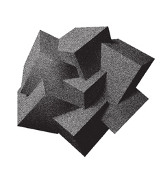 Abstract 3d overlapping dotwork cubes vector
