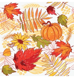 autumn pattern vector image