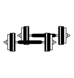 Barbell sport or fitness related icon image vector