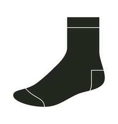Black sock template vector image vector image