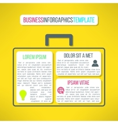 business infographic template with a case vector image vector image