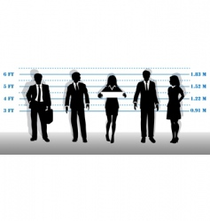 business people lineup vector image vector image
