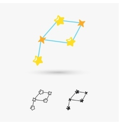 Constellations stars vector image