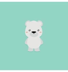 Cute Cartoon Polar Bear vector image vector image