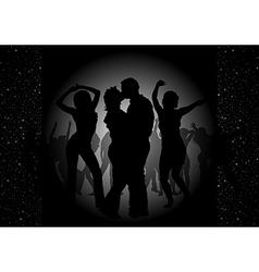 Dance party invitation vector