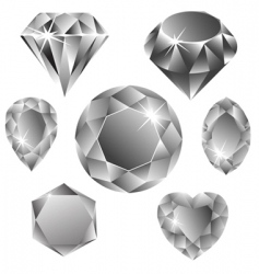diamonds collection vector image vector image