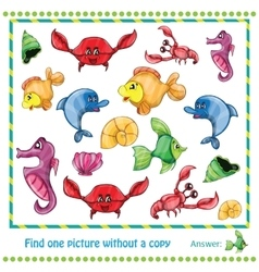 Educational Game for Children - find vector image vector image