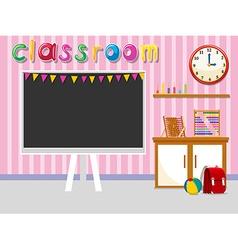 Empty classroom with blackboard vector