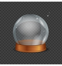 Empty Magic Crystal Ball vector image vector image