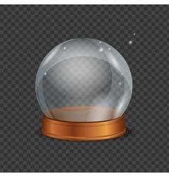 Empty magic crystal ball vector