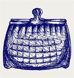 Empty purse vector image