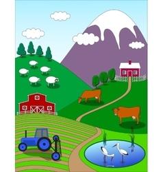 Farm Cartoon Landscape vector image