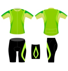 Green cycling vest vector