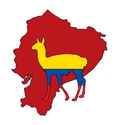Guanaco Ecuador vector image vector image