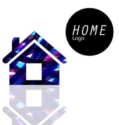 Home logo transparent colors overlap to feel vector