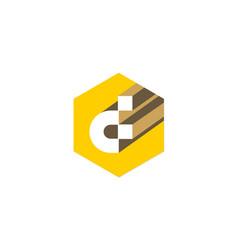 Letter d technology logo vector