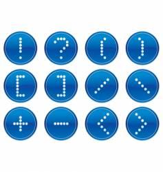 matrix symbols icon vector image vector image