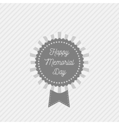 Memorial Day Emblem with Text and Ribbon vector image