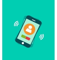 Mobile phone ringing with vector