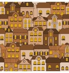 Old town seamless pattern vector