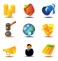 Online auction icons vector image vector image